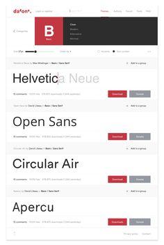 New branding and web design for the website dafont.com