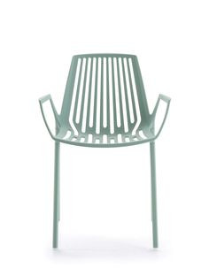RION collection. Armchair Light Blue / Poltrona Azzurro Pastello. FAST IN_OUT_ALUMINIUM
