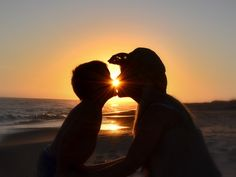 Mommy and son- beach silhouettes- beach pics