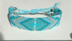 Loom beaded bracelet with waxed cord/Native by Suusjabeads on Etsy