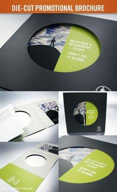 DesignerPeople Branding Agency on Behance - A die-cut brochure is an interesting twist given to normal ordinary looking brochures. Brochure Mockup, Brochure Folds, Brochure Layout, Corporate Brochure, School Brochure, Brochure Ideas, Brochure Cover, Corporate Design, Corporate Identity
