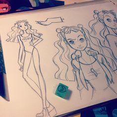 "Anna Cattish #sketching #girl"""