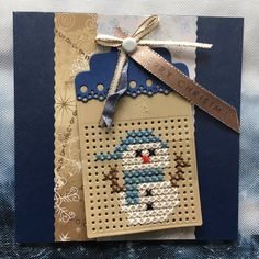 Cross Stitch Christmas Cards, Cross Stitch Cards, Christmas Gift Tags, Christmas Cross, Stitching On Paper, Cross Stitching, Snowman Cards, Marianne Design, Holiday Crafts