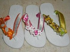 Sandalias decoradas con liston
