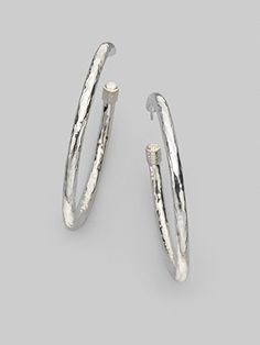 I want a pair of thick silver hoops...bad.  :)