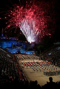 Royal Edinburgh Military Tattoo by 2edinburgh,The spectacular firework display and the mass bands mark the end of each performance of the Edinburgh Military Tattoo  www.2edinburgh.co.uk