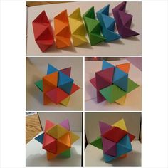 I had a go at making an origami burr puzzle, took me around two hours to make. It was really relaxing!