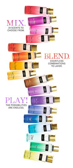 I Love that you can have fun mix them and customize what u like about them.. FYI some mixtures make a bomb scent.
