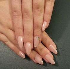 The nail bosss #nude and #gold