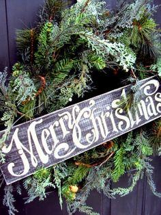 Couronne Noël Merry Christmas Thistle Woodfarm via Nat et nature