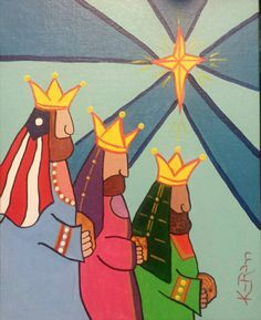 Three King's 3/3 By Katherine Rodriguez  Acrylic