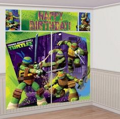 Teenage Mutant Ninja Turtles Wall Decorating Kit (5Pc) Birthday Party Supplies