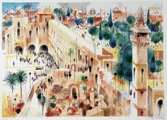 Blog of an Art Admirer: Israeli artists. Jerusalem by Shmuel Katz