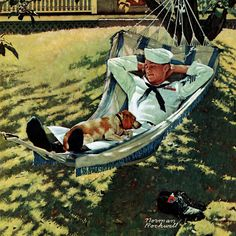 """""""On Leave"""" by Norman Rockwell Painting Print on Canvas"""