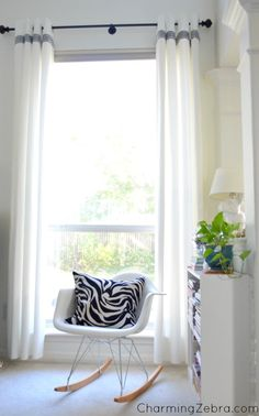How to Turn Plain Ikea Curtains Into White Columns of Loveliness.