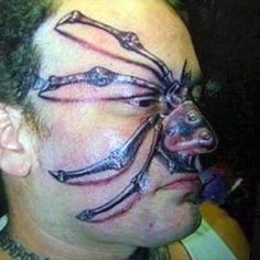 I actually think this is an awesome tatt.  I roll a little off-center.  [ugly tattoo. For more tattoo fails, please visit www.tattoofails.com]