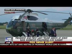 President Trump picks up Marine's Cover after it blows off #DNN - YouTube