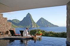 Created as a cornucopia of organic architecture, by owner and architect Nick Troubetzkoy, the Jade Mountain resort is built in harmony with ...