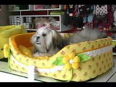 DIY | Faça você mesma | Cama para cachorro ou gato - YouTube
