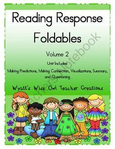 Reading Response Foldables Vol. 2 - 1 LUCKY WINNERS!.  A GIVEAWAY promotion for Reading Response Foldables Volume 2 from Mrs. Wyatt's Wise Owl Teacher Creations on TeachersNotebook.com (ends on 4-27-2014)