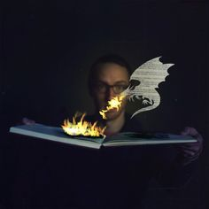 ..a sad metaphor for the bound book: it will go up in flames because of technology and will be talked of as a fond memory and eventually be relegated to the realm of myth...