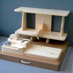 """Детская ручной работы. Ярмарка Мастеров - ручная работа. Купить Полка для книг  """"Самолёт"""" (набор для сборки и раскрашивания) 60см. Handmade."""