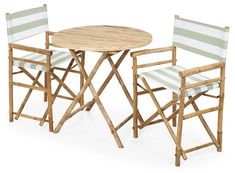 Director's 3-Pc Round Dining Set, Green $175.00