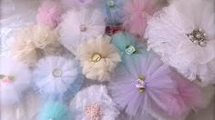 Tulle Flowers Tutorial (nice and easy) - YouTube