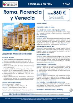 ITALIA: Roma, Florencia y Venecia en tren. 7 días, desde 860 € + tasas - http://zocotours.com/italia-roma-florencia-y-venecia-en-tren-7-dias-desde-860-e-tasas/