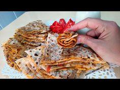 YİYENLERİN KIYMALI SANDIĞI💯 PATLICANLI GÖZLEME TARİFİ, MAYASIZ PATLICANLI GÖZLEME, KIŞ HAZIRLIKLARI - YouTube Waffles, Lunch Box, Bread, Breakfast, Ethnic Recipes, Food, Youtube, Pizza, Kitchens
