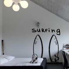 Wall Decal Surfing Wave Ocean Water Inscription Word bedroom M242. Thank you for visiting our store!!! Please read the whole description about this item and feel free to contact us with any questions! Vinyl wall decals are one of the latest trends in home decor. Vinyl wall decals give the look of a hand-painted quote, saying or image without the cost, time, and permanent paint on your wall. They are easy to apply and can be easily removed without damaging your walls. Vinyl wall decals can…