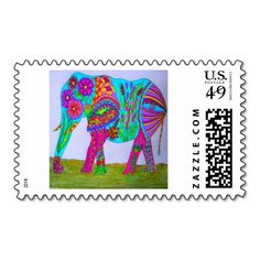 Cute Elephant Postage Stamp