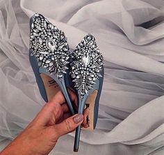 Chaussures de mariée - strasses - argenté