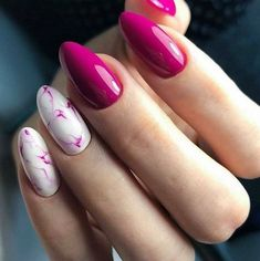 A pink manicure is a favorite among modern girls. Pink shades of nail polish Pink White Nails, Hot Pink Nails, Pink Manicure, Fabulous Nails, Gorgeous Nails, Pretty Nails, Toe Nails, Nails Inspiration, Beauty Nails