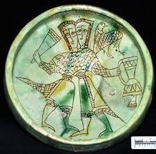 Plat décoré de buveurs - XIIIème siècle - Chypre