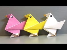 How to fold yourself a paper chicken in less than five minutes - Falte Dir Dein Papier-Huhn! - YouTube