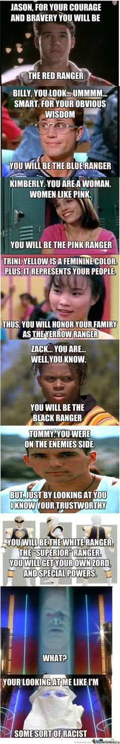 Power Rangers Selection Process.  I love classic Power Rangers, but this is funny.