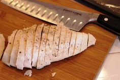 DIY sliced grilled chicken for freezing