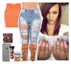 Orange Shake by saucinonyou999 on Polyvore featuring polyvore fashion style River Island Billabong clothing