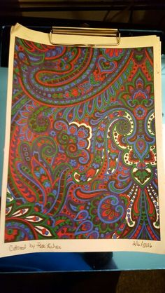 Creative Haven Paisley Designs Coloring Book Sharpies And Bic Mark Its