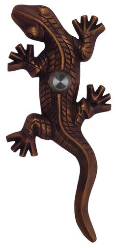 Brass Gecko Lizard Doorbell