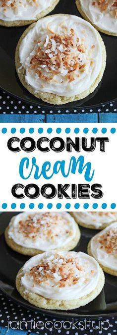 Coconut Cream Cookies Jamie Cooks It Up!