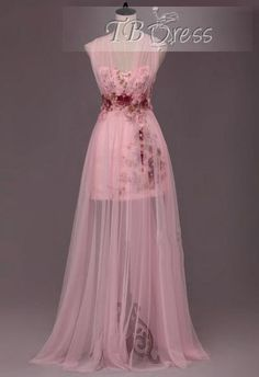 I want it. For prom this year...I WILL OWN IT. Flowers Beading Appliques A-Line Halter Floor-Length Prom Dress