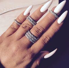 Beautiful long nails.