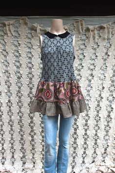 REVIVAL Upcycled Women's Kitschy Shirt Peter Pan Collar by REVIVAL, $42.99