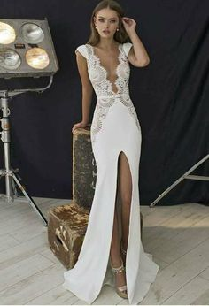 18 Unique & Hot Sexy Wedding Dresses ❤️ We collected for you some sexy wedding dresses which are elegant alternatives. Our wedding dresses keep balancing sexy with ceremony-appropriate look. See more: www. Sexy Wedding Dresses, Elegant Dresses, Pretty Dresses, Sexy Dresses, Bridal Dresses, Wedding Gowns, Prom Dresses, Formal Dresses, Backless Wedding
