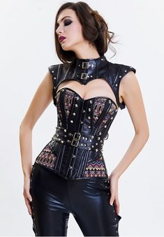 18c931afb68 Sexy Steampunk Overbust Corset with Tippet