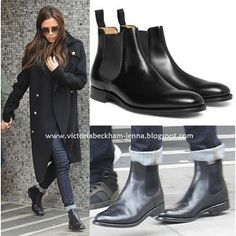 Victoria Beckham Style: March 2013 Loving the Chelsea boots and jeans look Brett opp buksene! Black Chelsea Boots Outfit, Chelsea Boots Style, Chelsea Boots With Jeans, Womens Chelsea Boots, Black Ankle Boots Outfit, Casual Winter Outfits, Outfit Winter, Outfit Summer, Casual Shoes