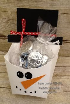 Jan Girl: Stampin' Up Christmas Fry Boxes