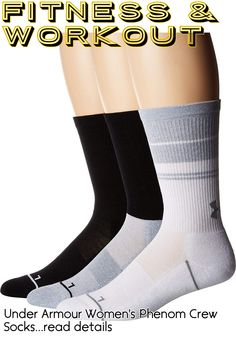 Under Armour Women's Phenom Crew Socks #fitnessclothing